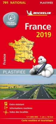 Michelin Karte France / Frankreich 2019 (plastifiziert)