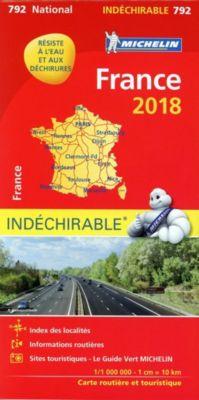 Michelin Karte Frankreich 2018 (widerstandsfähig)