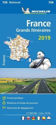 Michelin Karte Frankreich Fernrouten 2019