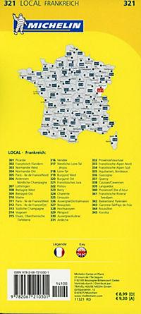 Michelin Karte Französisches Jura - Produktdetailbild 1