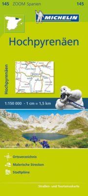 Michelin Karte Hochpyrenäen; Pyrénées Centrales. Béarn, Bigorre, Aragon