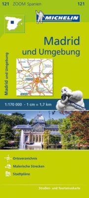Michelin Karte Madrid und Umgebung; Madrid et ses environs