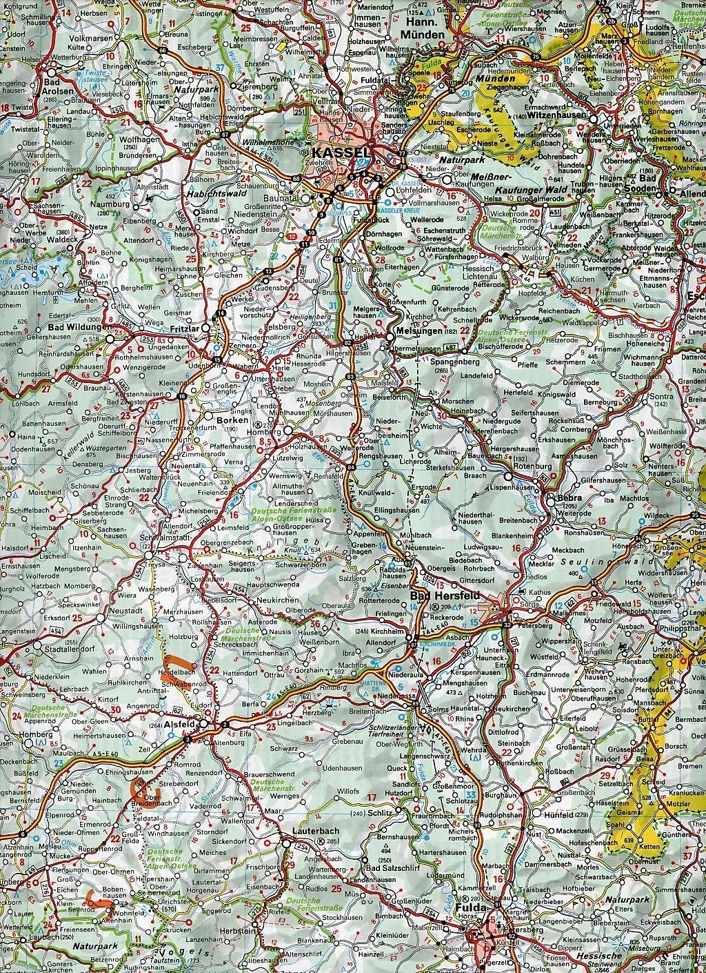Karte Von Nrw.Michelin Karte Nordrhein Westfalen Hessen Rheinland Pfalz