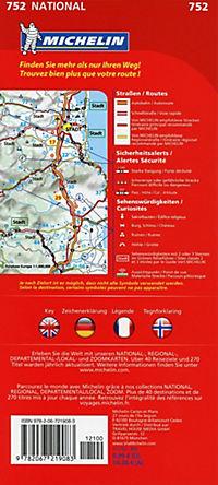 Michelin Karte Norwegen; Norvege - Produktdetailbild 1