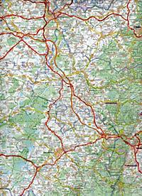 Michelin Karte Oberrhein, Schwarzwald; Alsace, Forêt Noire - Produktdetailbild 2