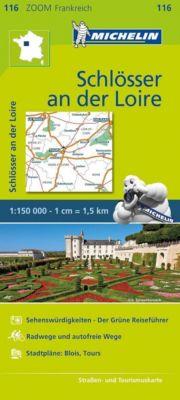 Michelin Karte Schlösser an der Loire; Val de Loire et ses châteaux