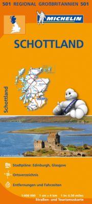 Michelin Karte Schottland; Scotland