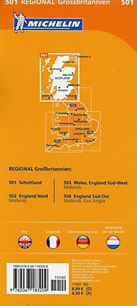 Michelin Karte Schottland; Scotland - Produktdetailbild 1