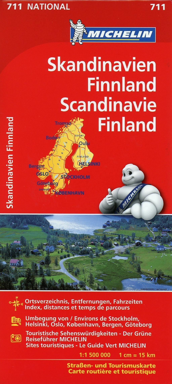 Karte Skandinavien.Michelin Karte Skandinavien Finnland Scandinavie Finland Buch