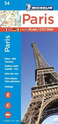 Michelin Karte Stadtplan Paris
