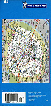 Michelin Karte Stadtplan Paris - Produktdetailbild 1