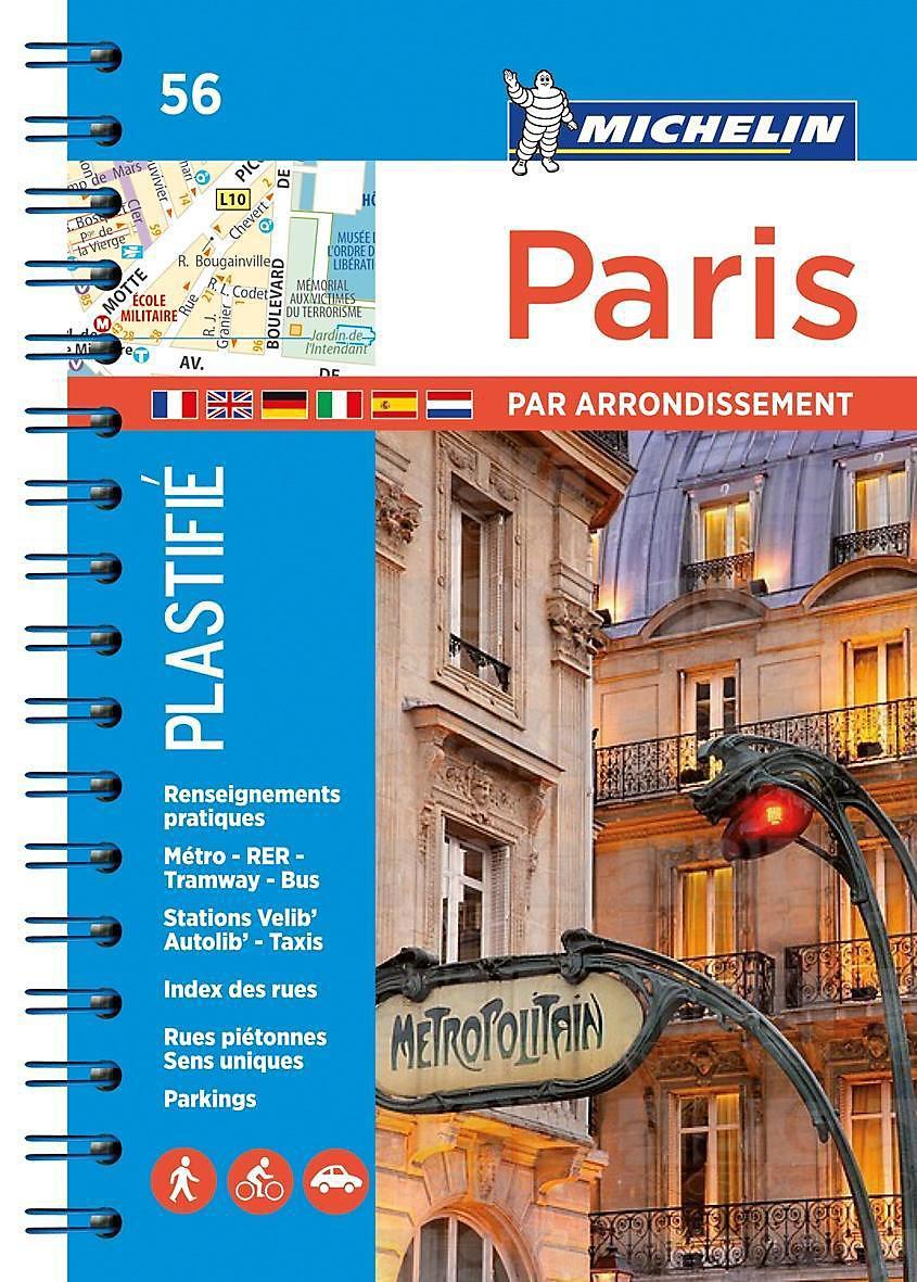 Karte Paris Arrondissement.Michelin Karte Stadtplan Paris Par Arrondissement Buch