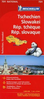 Michelin Karte Tschechien - Slowakei; Republique tchèque, Republique slovaque