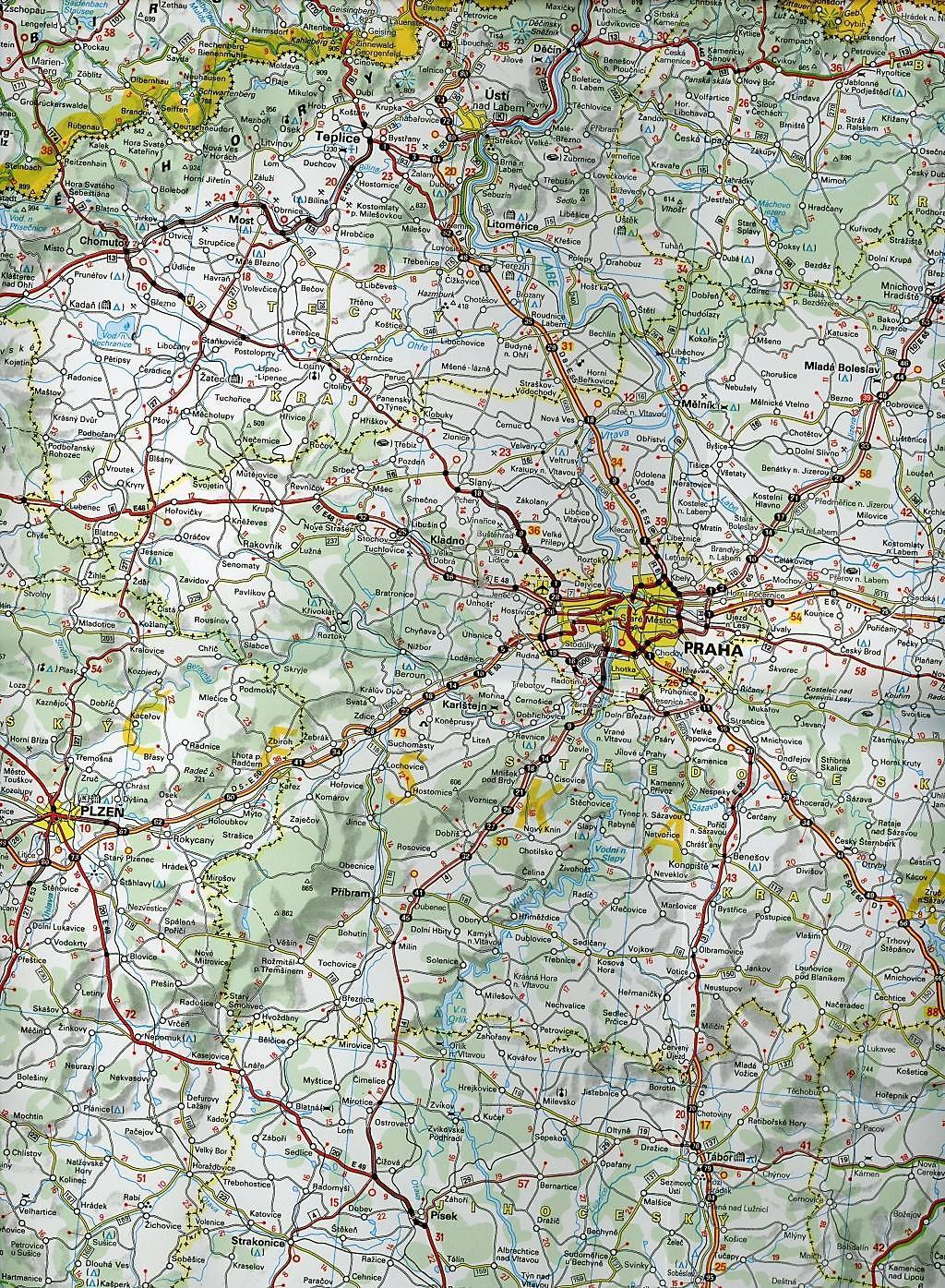 Karte Tschechien.Michelin Karte Tschechien Slowakei Republique Tchèque Republique