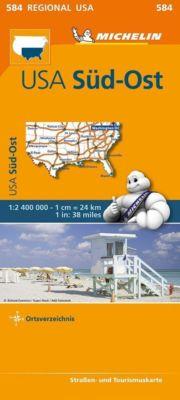 Michelin Karte USA Süd-Ost
