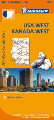 Michelin Karte USA West, Kanada West; USA West, Canada West