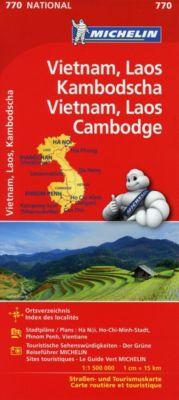 Michelin Karte Vietnam, Laos, Kambodscha; Vietnam, Laos, Cambodge