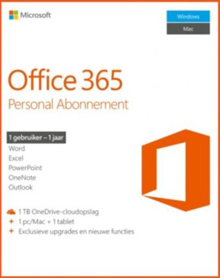 Microsoft Office 365 Personal - 1 PC or Mac, 1 Year - Download