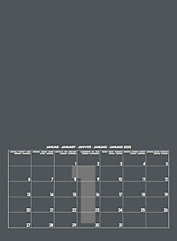 Mid Grau 2019 - Blanko Mid Format - Produktdetailbild 2
