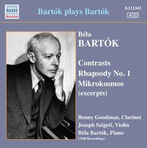 Mikrokosmos/Contrasts/Rhapsody, Bartok, Szigeti, Goodman
