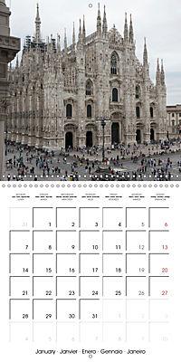 Milan - Italy (Wall Calendar 2019 300 × 300 mm Square) - Produktdetailbild 1