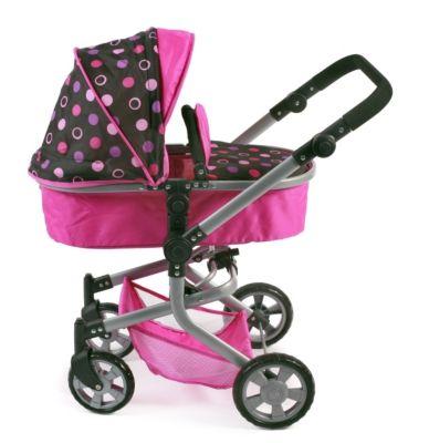 Puppen & Zubehör Puppenbuggy Roma Pinky Balls Puppenwagen