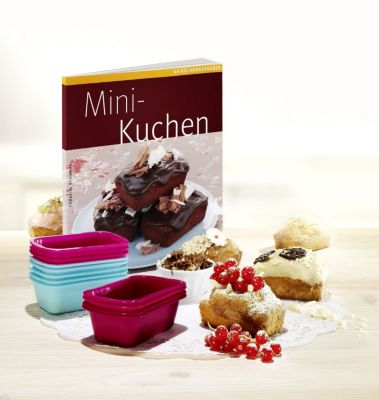 mini kuchen set mit 12 silikon backf rmchen buch. Black Bedroom Furniture Sets. Home Design Ideas