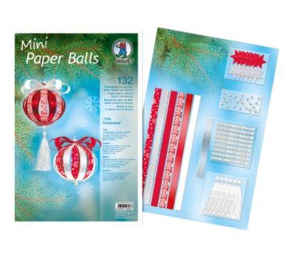 Mini Paper Balls (Motiv: Yule Ornaments)