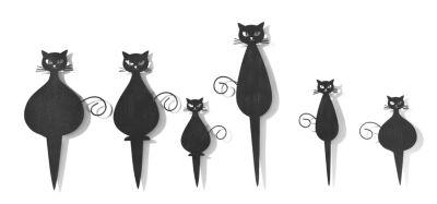 Mini-Stecker Katze, 6er-Set