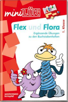 miniLÜK: Flex und Flora: Ergänzende Übungen zu den Buchstabenheften - Kirstin Jebautzke |