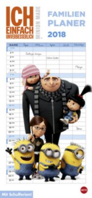 Minions Familienplaner 2018