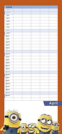 Minions Familienplaner 2018 - Produktdetailbild 4