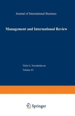 mir, Management International Review, Special Issue: Can Multinationals Bridge the Gap Between Global and Local?