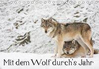Mit dem Wolf durch's Jahr (Tischkalender 2019 DIN A5 quer), Wilfried Martin