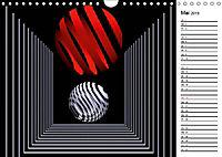 Mit Geometrie durch das Jahr (Wandkalender 2019 DIN A4 quer) - Produktdetailbild 5