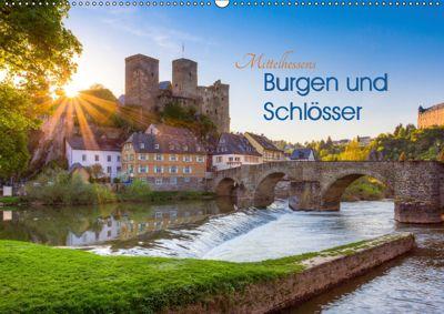 Mittelhessens Burgen und Schlösser (Wandkalender 2019 DIN A2 quer), Silke Koch