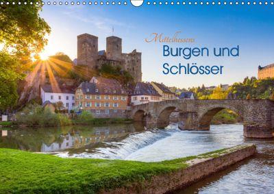 Mittelhessens Burgen und Schlösser (Wandkalender 2019 DIN A3 quer), Silke Koch