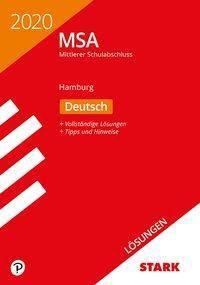 Mittlerer Schulabschluss MSA 2020 - Deutsch Lösungen - Hamburg