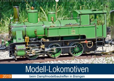 Modell-Lokomotiven beim Dampfmodellbautreffen in Bisingen (Wandkalender 2019 DIN A2 quer), Geiger Günther