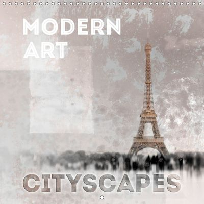 Modern Art Cityscapes (Wall Calendar 2019 300 × 300 mm Square), Melanie Viola
