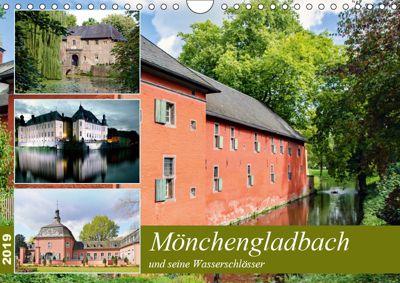 Mönchengladbach und seine Wasserschlösser (Wandkalender 2019 DIN A4 quer), Nina Schwarze