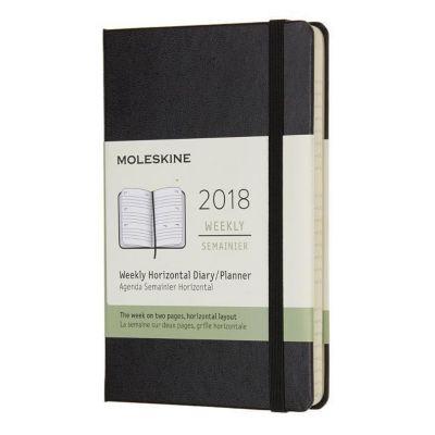Moleskine 12 Monate Wochenkalender 2018, P/A6, Hard Cover, Schwarz
