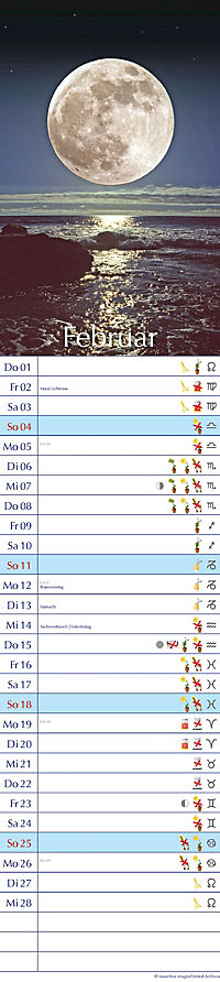 Mond Streifenkalender 2018 - Produktdetailbild 2