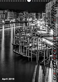 Monochromes Venedig - Klassische Momente (Wandkalender 2019 DIN A3 hoch) - Produktdetailbild 4