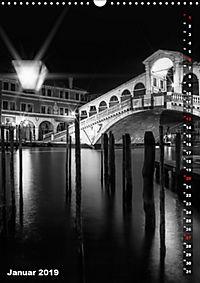 Monochromes Venedig - Klassische Momente (Wandkalender 2019 DIN A3 hoch) - Produktdetailbild 1