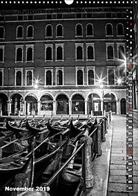 Monochromes Venedig - Klassische Momente (Wandkalender 2019 DIN A3 hoch) - Produktdetailbild 11