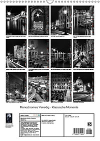 Monochromes Venedig - Klassische Momente (Wandkalender 2019 DIN A3 hoch) - Produktdetailbild 13