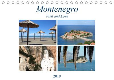 Montenegro - Visit and Love (Tischkalender 2019 DIN A5 quer), Melanie Sommer - Visit and Love