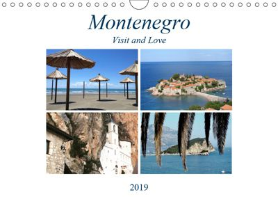 Montenegro - Visit and Love (Wandkalender 2019 DIN A4 quer), Melanie Sommer - Visit and Love