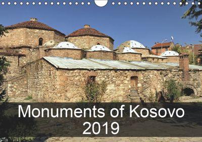 Monuments of Kosovo 2019 (Wall Calendar 2019 DIN A4 Landscape), Sebastian Wallroth